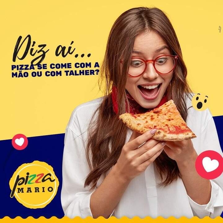 Pizza se come com a mão ou com os talheres?